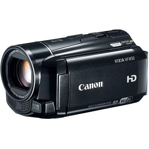 "Canon VIXIA HF M50 Black HD Camcorder w/ 10x Optical Zoom, 3.0"" LCD Display, Optical Image Stabilization"