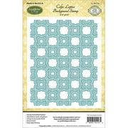 "Justrite Papercraft  Cling Background Stamp 4.5""X5.75""-Celtic Lattice"