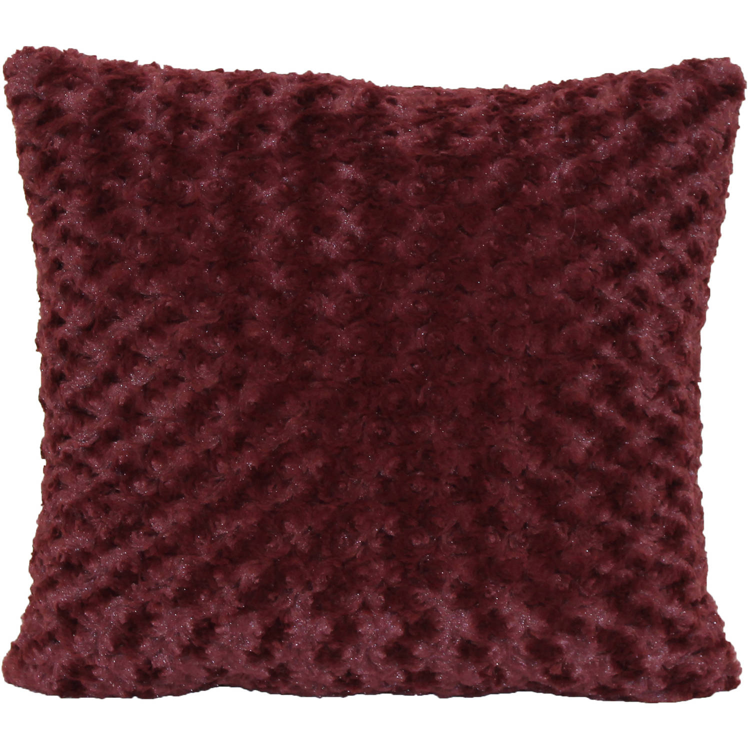 "Better Homes and Gardens Rosette Fur 18"" x 18"" Pillow"