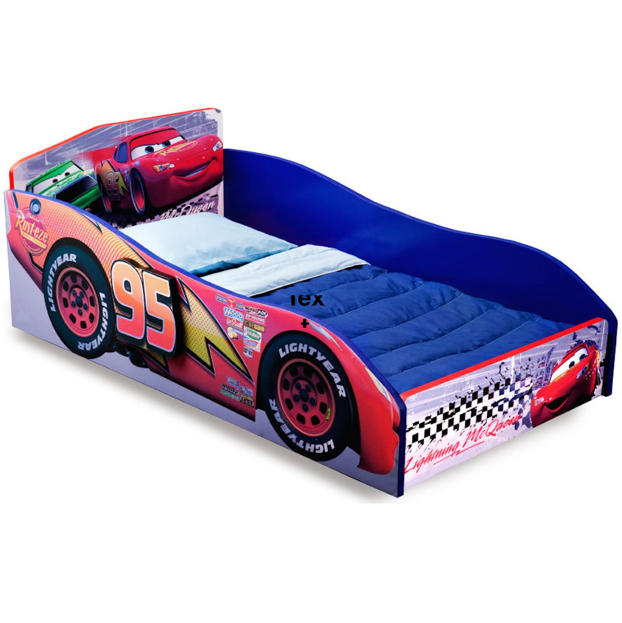 Delta Children Disney/Pixar Cars Wooden Toddler Bed, Red