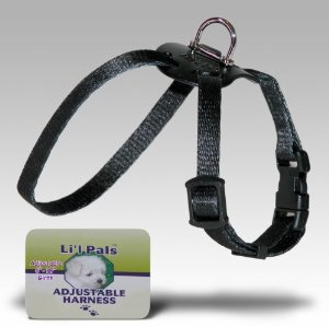 Dog Supplies 248 5/16 Lil Pal Harness- Black Multi-Colored