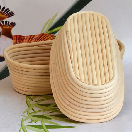 """Moaere 11"""" Oval Banneton Proofing Basket with Cloth Liner"""
