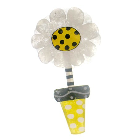 Peri Woltjer DAISY IN YELLOW FLOWER POT DOOR HANGER Summer Beauty 2020160940