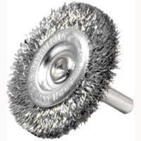 Crimped Wheel Brush - Weiler 36413 Crimped Wheel Brush, 3