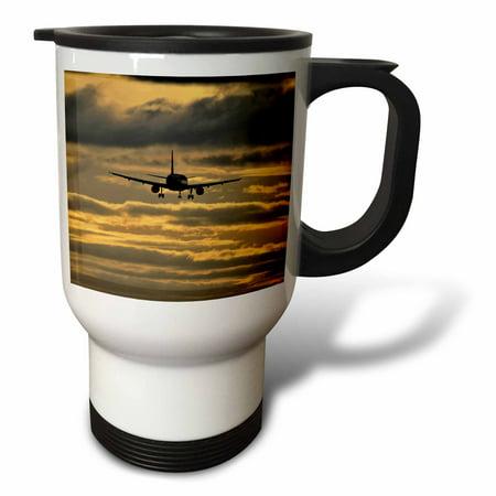 3dRose Oregon, Portland. Airplane with landing gear - US38 BJA0455 - Jaynes Gallery, Travel Mug, 14oz, Stainless Steel