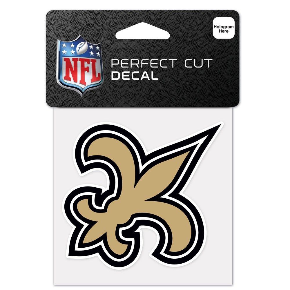New Orleans Saints Official NFL 4 inch x 4 inch  Die Cut Car Decal by Wincraft