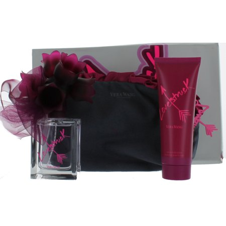 Lovestruck by Vera Wang for Women Set-EDP Perfume Spray 1.7 oz.+Body Lotion 2.5 oz.+Toiletry Bag New in Box
