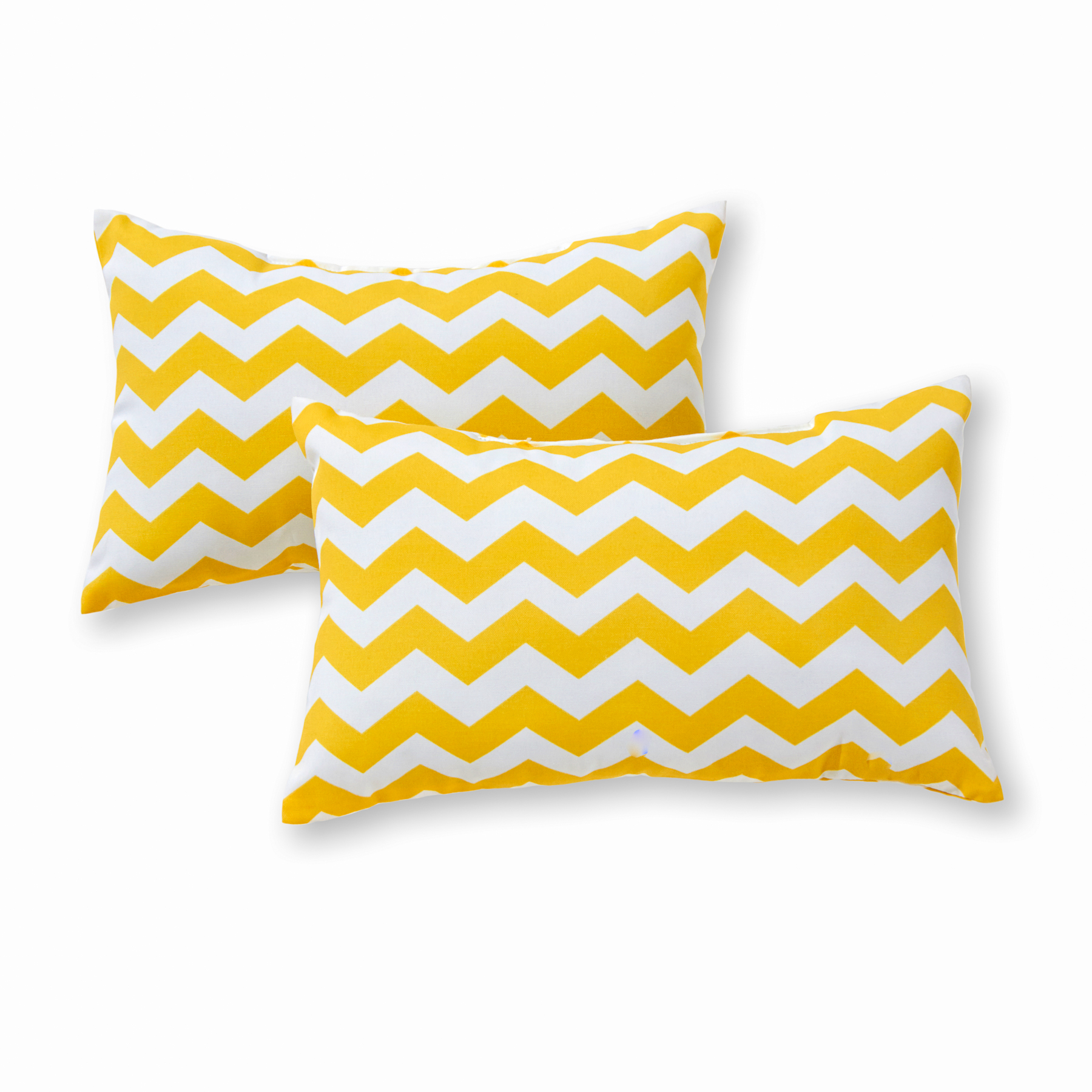 Greendale Home Fashions Yellow Zig Zag Rectangle Outdoor Accent Pillow, Set of 2