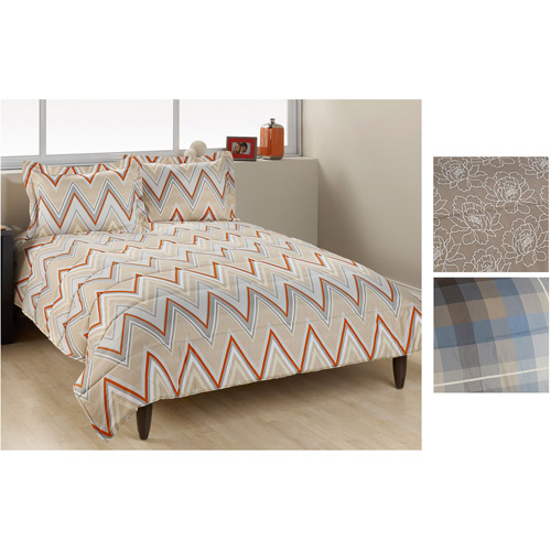 Printed Down Alternative Zig Zag Comforter Set