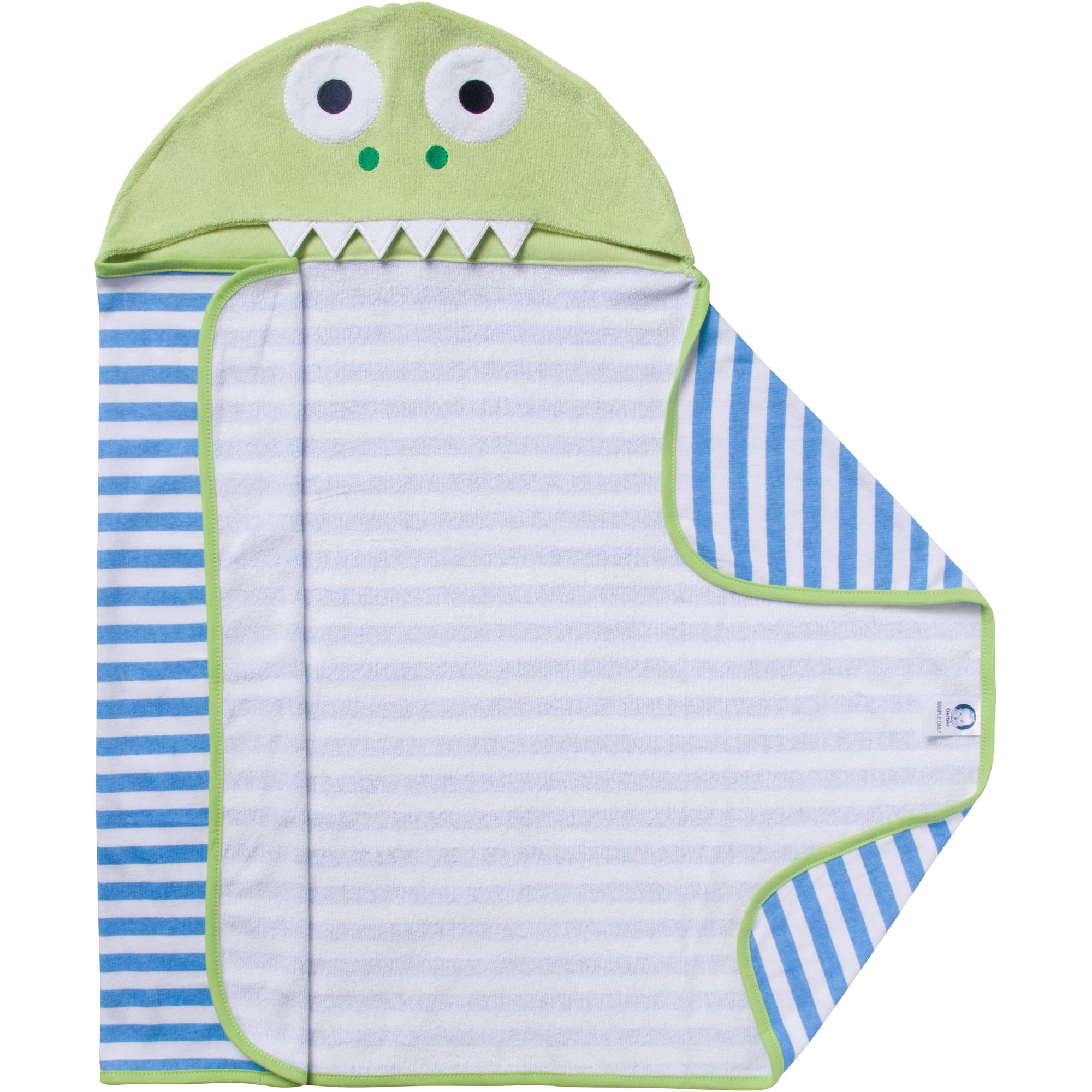 Gerber Newborn Baby Boy Terry Hooded Dinosaur Bath Wrap