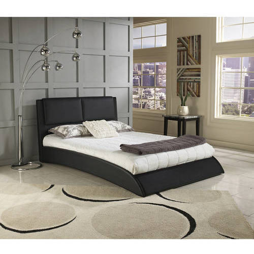 Premier Melbourne Queen Upholstered Platform Bed, Black