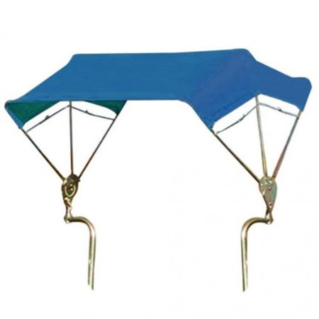 SNOWCO 3-Bow Tractor Canopy with Frame, Fender Mount, 48