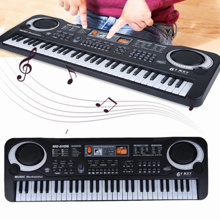 Dioche Musical Instruments Toy, Keyboard Electric Piano,61-Key Electric Digital Key Board Piano Musical Instruments Kids Toy with Microphone