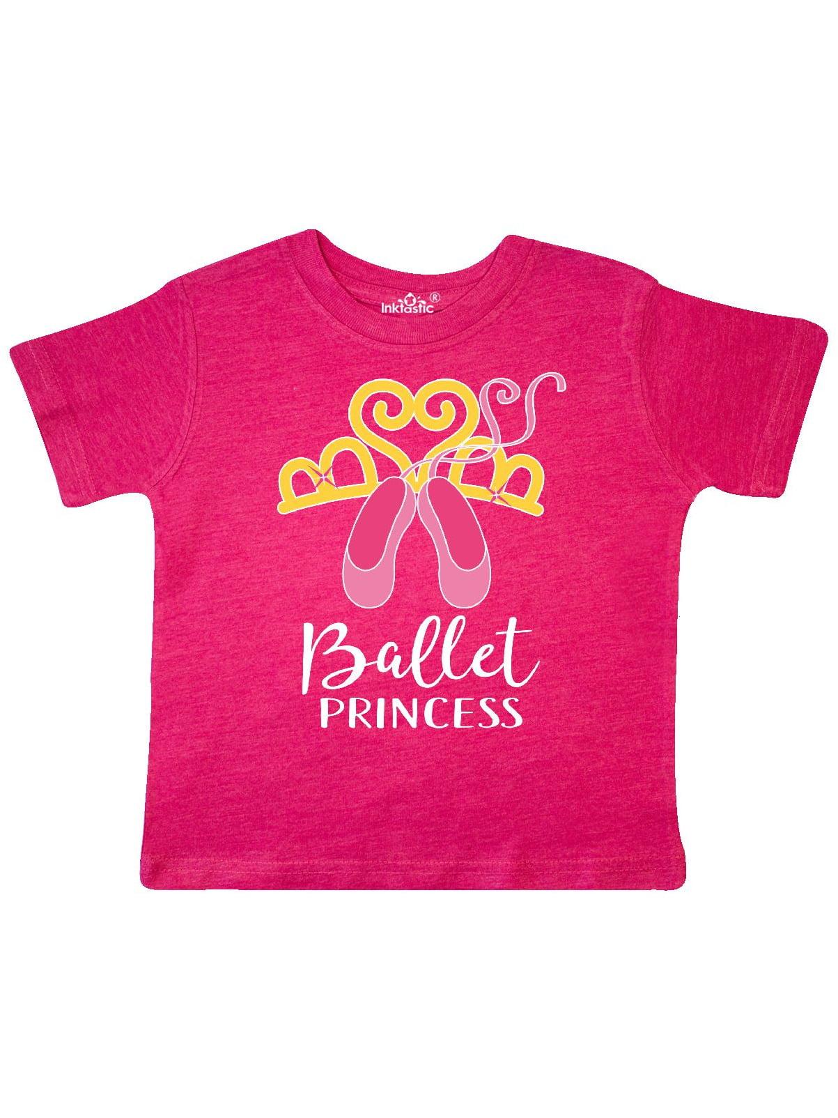 inktastic Ballerina Dancer I Love Ballet Toddler T-Shirt