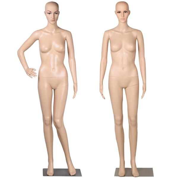 "68.9"" Plastic Adjustable Full Female Mannequin Dress Form Display w/Base"