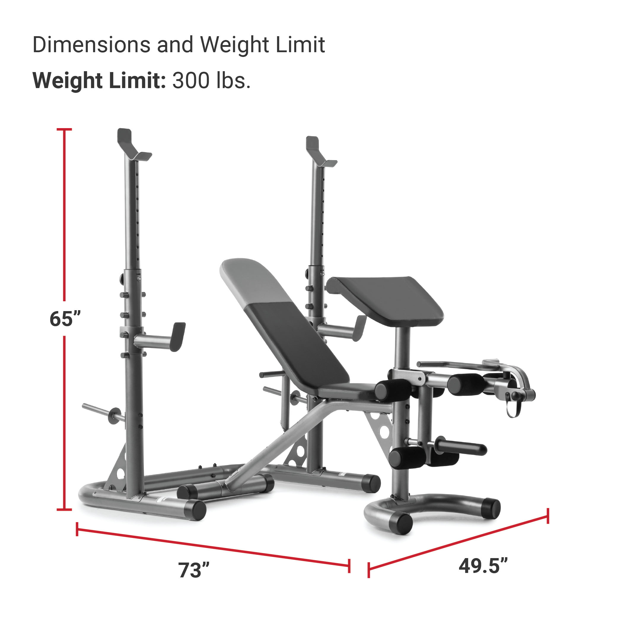 Weider Xrs 20 Adjustable Bench With Olympic Squat Rack And Preacher Pad 610 Lb Weight Limit Walmart Com Walmart Com