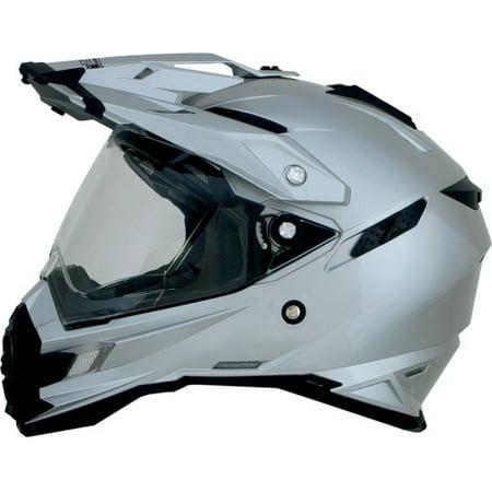 AFX FX-41DS Full Face Street Helmet Silver (Afx Helmet Liner)