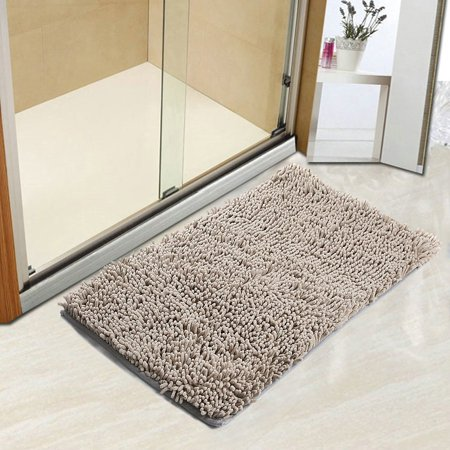 - Bath Rugs Bathroom Shower Mats ,Bath mat Chenille Bath rugs, Tayyakoushi Non-slip Water Absorbency Washable Bathroom Mat 30