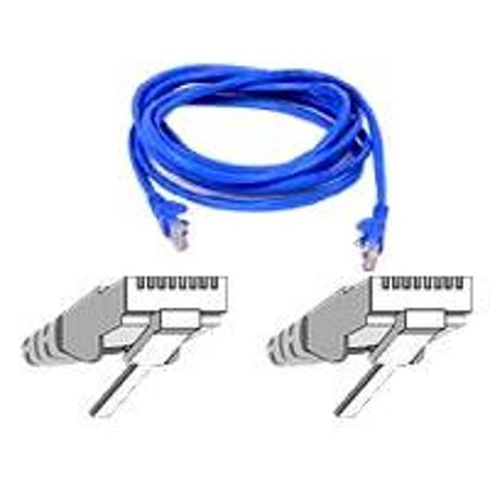 BELKIN cat5e 2ft blue patch cable rj45m/rj45m w/snagless boot