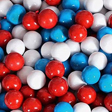 FirstChoiceCandy Sixlets Milk Chocolate Balls (American Spirit Patriotic, 5 LB) ()
