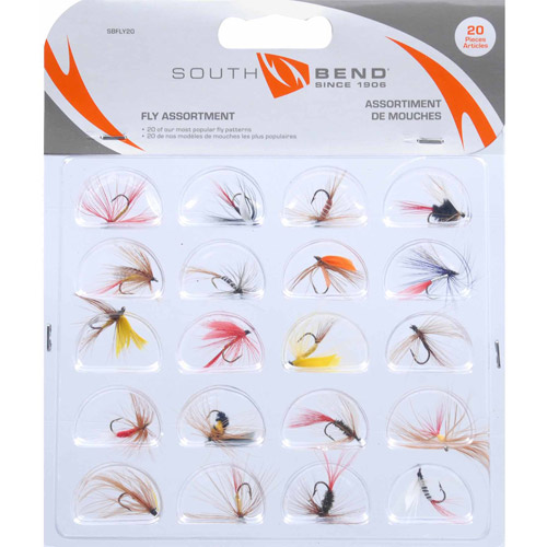 South Bend Fly Assortment, 20-Pack