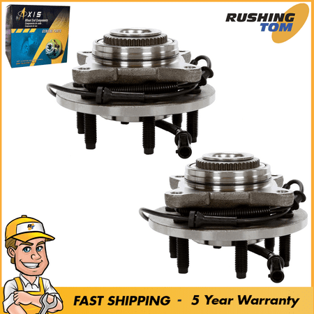 New Front Hub Wheel Bearing Assembly Set of 2 fits 04-05 Ford F150 4WD 6 Stud