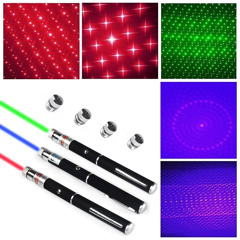 3PCS Military 5MW High-Powered Laser Pointer Pen 532nm Visible Beam Light