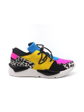Cape Robbin Dreamland Multi Color Low To Platform Lace Up Fashion Sneakers (11)