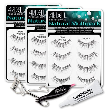 db2d6c9e634 Ardell Fake Eyelashes Demi Wispies Value Pack - Natural Demi Wispies  (Black, 3-