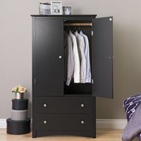 Kingfisher Lane TV Wardrobe Armoire in Black