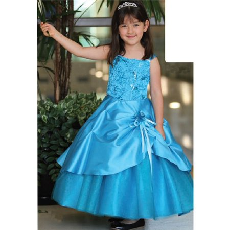 Angels Garment Little Girls Turquoise Easter Flower Girl Dress 2T-8](Turquoise Girls Dresses)