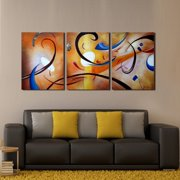 The Lighting Store 'Happiness Abstract' Hand Painted Gallery Wrapped Canvas Art Set