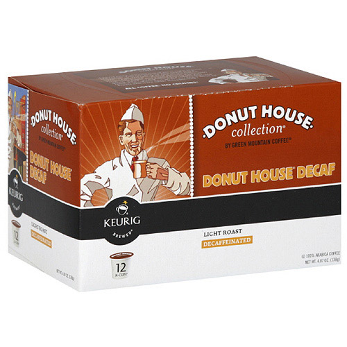 Green Mountain Coffee Roasters Donut House Collection Decaf K-Cups, 12PC (Pack of 6)
