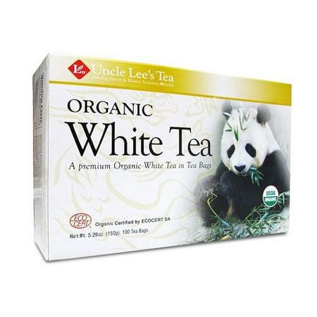 Blanc biologique Thé de l'oncle Lee thé, sachets de thé, 100 boîtes Count