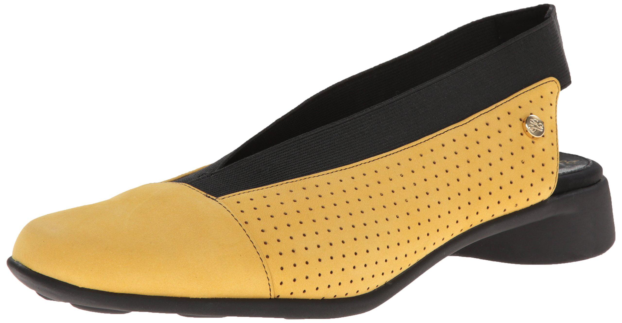J. Renee New Yellow Niro Shoes Size 7M Stretch Slingbacks Flats by J. Renee
