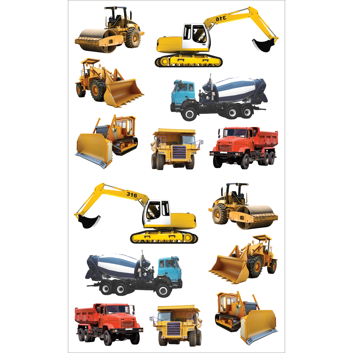 Mrs. Grossmans Stickers-Tractors & Trucks Multi-Colored