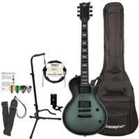 ESP Bill Kelliher Signature Electric Guitar, Military Green w Soft Case, Strap & More