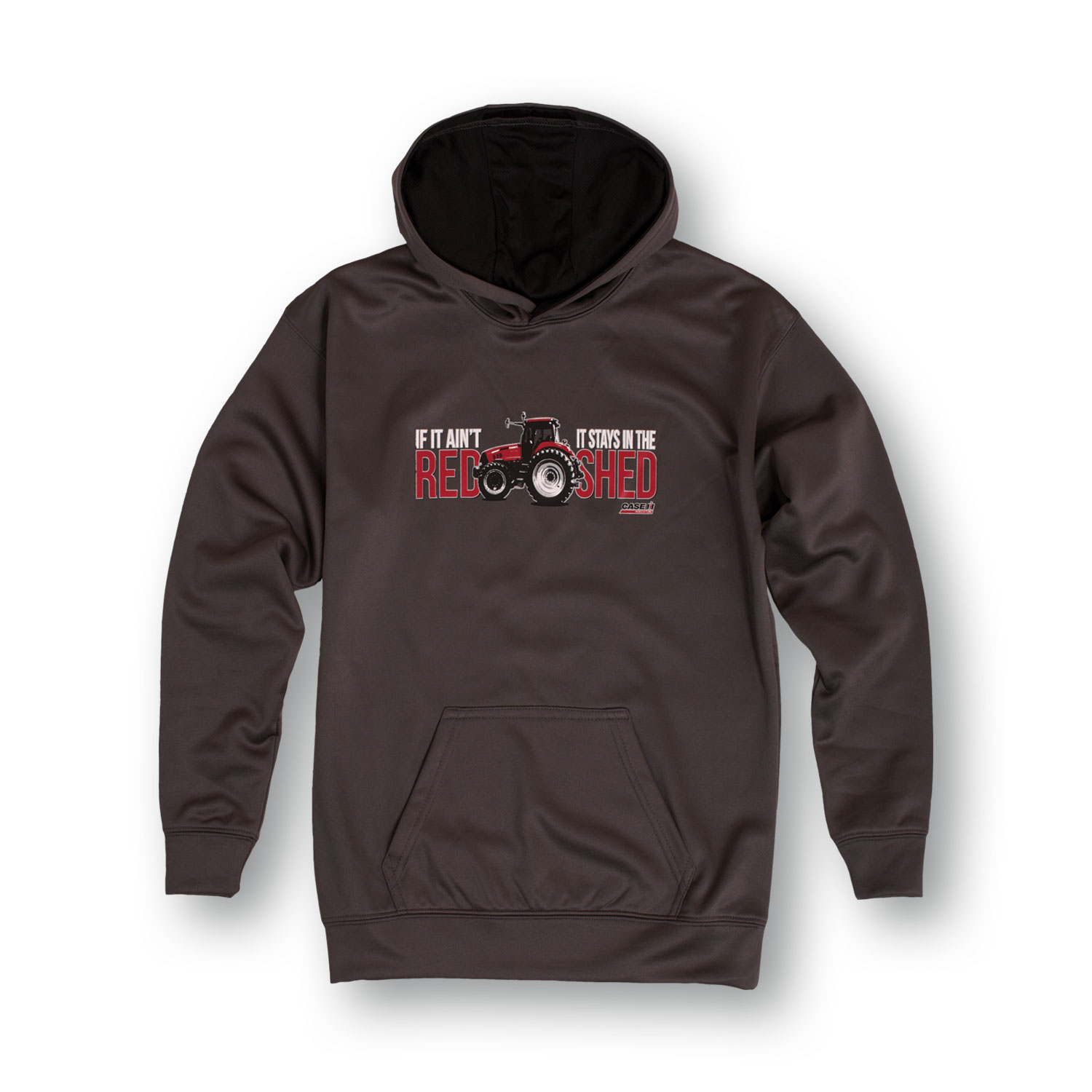 Case IH If It Ain't Red Stays in Shed Red Tractor Youth Performance Fleece Hood