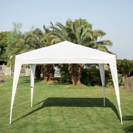 Kinbor 10'x10' Canopy Four Angle Cross Structure Tent Heavy Duty Outdoor Gazebo - Gazebo Structure Color