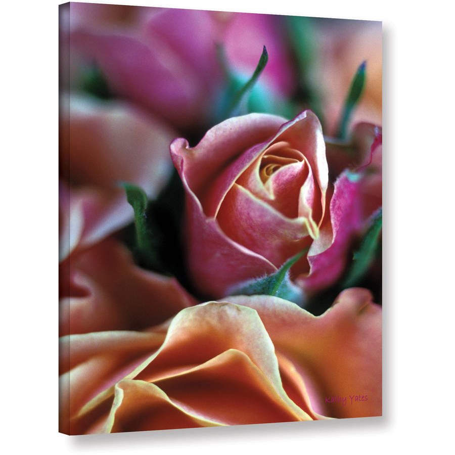 "Kathy Yates ""Mauve And Peach Roses"" Canvas Art"