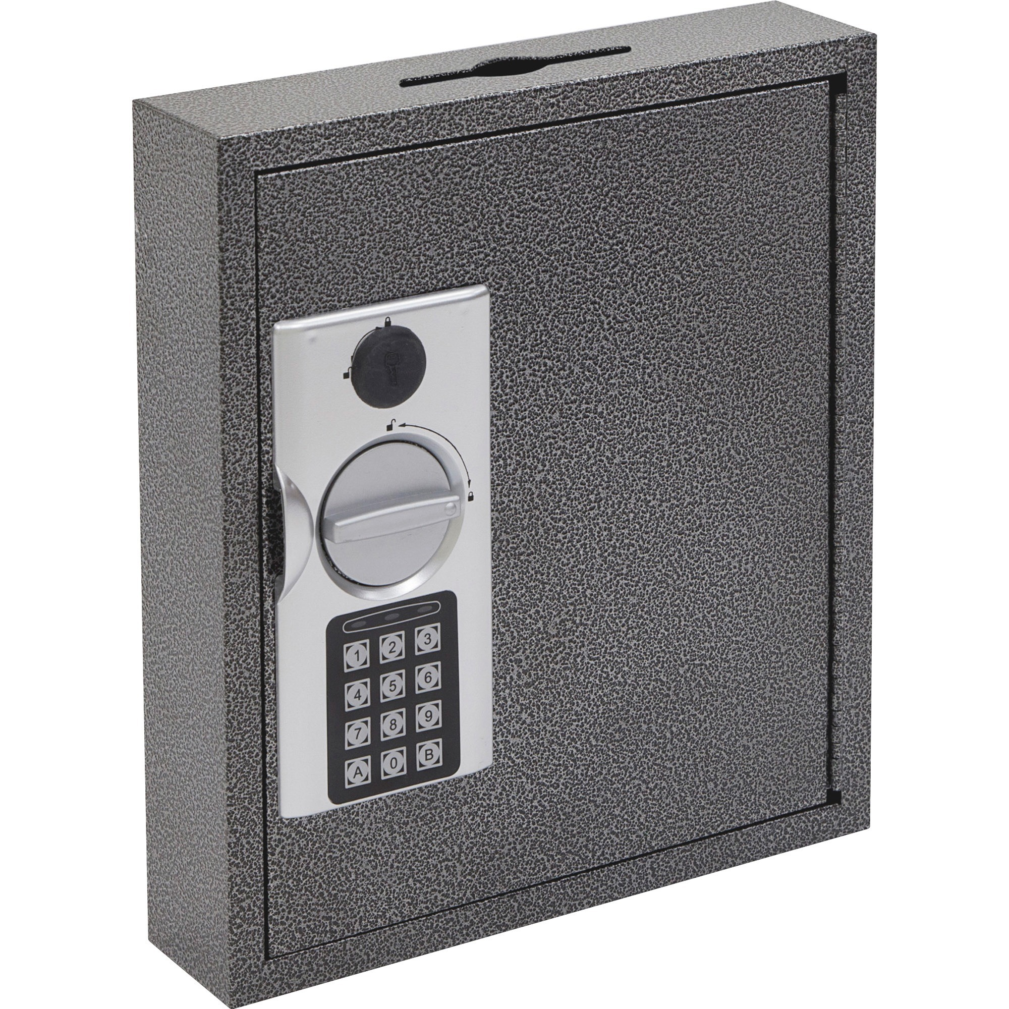 FireKing, FIRKE100230, E-lock Steel Key Cabinets, 1 Each, Black,Silver