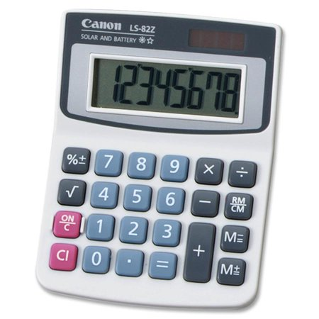 Canon LS82Z Handheld Calculator (Blue And White Canton)