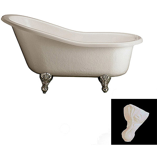 Barclay Acrylic Roll Top Claw Foot Tub 60""