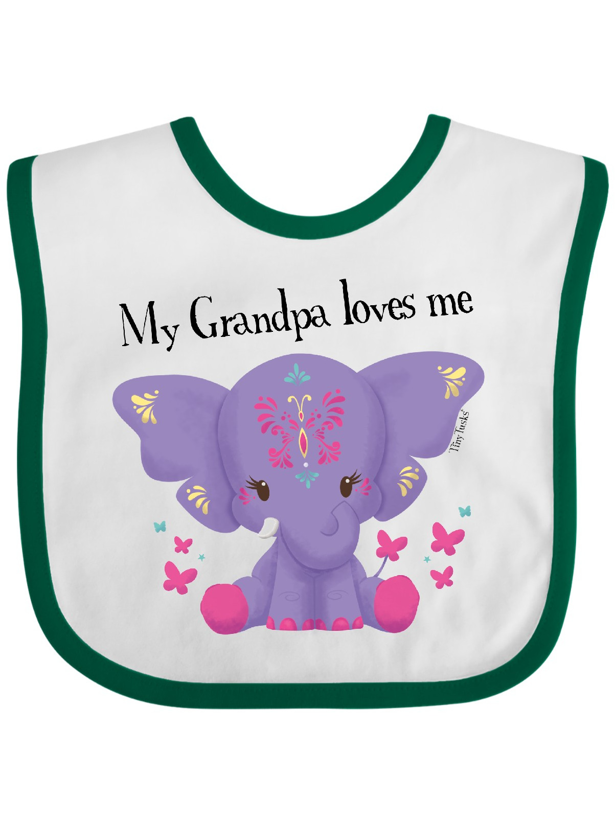 Elephant Baby Bib READY TO SHIP for Dress Up Occasions with Bow Pink and Gray Baby Shower Toddler Bib Baby Gift
