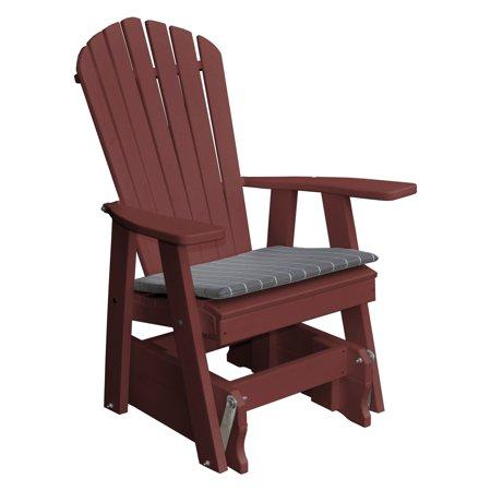 Radionic Hi Tech Newport Recycled Plastic Patio Adirondack Chair Glider ()