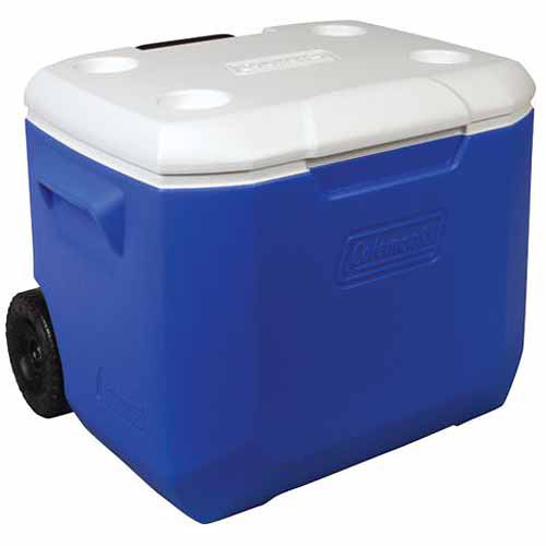Coleman 60-Quart Wheeled Cooler, Blue