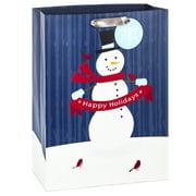 "Hallmark 20"" Oversized Christmas Gift Bag (Snowman on Blue)"