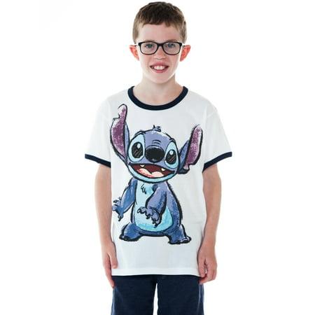 Boy Ringer (Youth Boys Stitch Ringer T-Shirt White Short Sleeve)