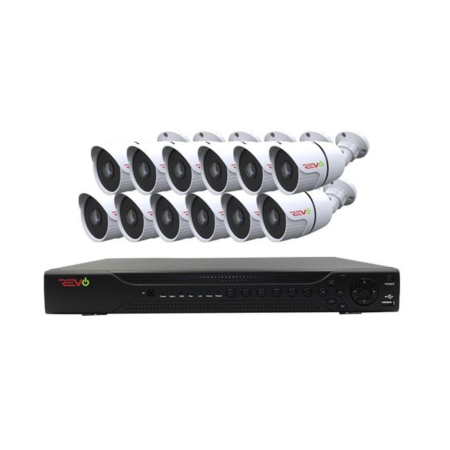 Aero HD 1080p 16 Channel Surveillance Video Security System with 12 Indoor & Outdoor Bullet Cameras