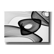 "Epic Graffiti 'Abstract Black and White 22-16' by Irena Orlov, Giclee Canvas Wall Art, 16""x12"""